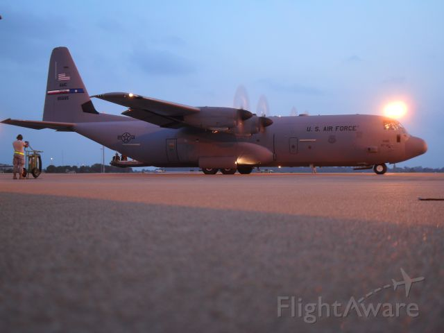 Lockheed C-130 Hercules — - This C-130J in Alexandria airport, participating in Green Flag east training