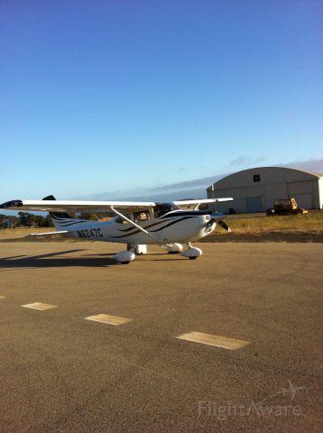 Cessna Skylane (N6247C) - Sunny late afternoon near San Simeon. CA