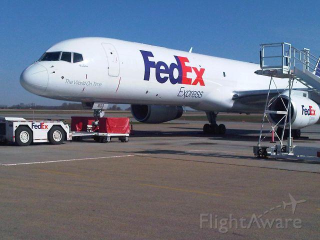 "Boeing 757-200 — - Fedex B757 ""Fabian"" parked on apron at Edmonton International Airport."