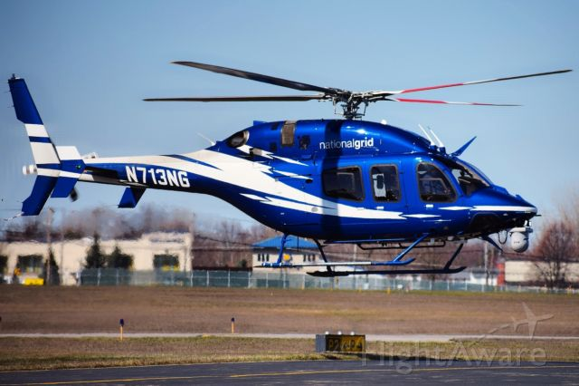 Bell 429 GlobalRanger (N713NG) - 2014 Bell 429 GlobalRanger opby National Grid landing on the FBO ramp at the Buffalo Niagara International Airport
