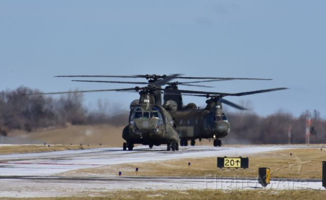 ASAP Chinook — - Two CH-47 Chinooks taxi in