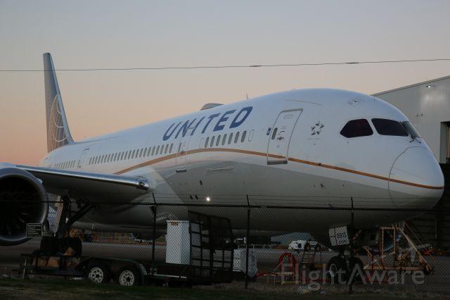 Boeing 787-8 (N30913) - At the United hangar at KIAH