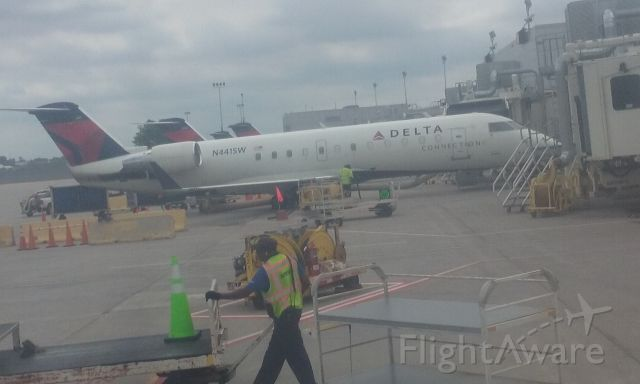 Canadair Regional Jet CRJ-200 (N441SW) - N441SW at the gate at Minneapolis-St. Paul, June 28, 2019