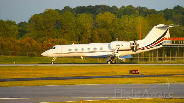 Gulfstream Aerospace Gulfstream IV (N272TX) - At my favorite airport, PDK for watching jet activity.  This beautiful beast came in.  I concentrate on captures near the VOR, because reverse thrusters are usually activated as most planes go by the VOR.