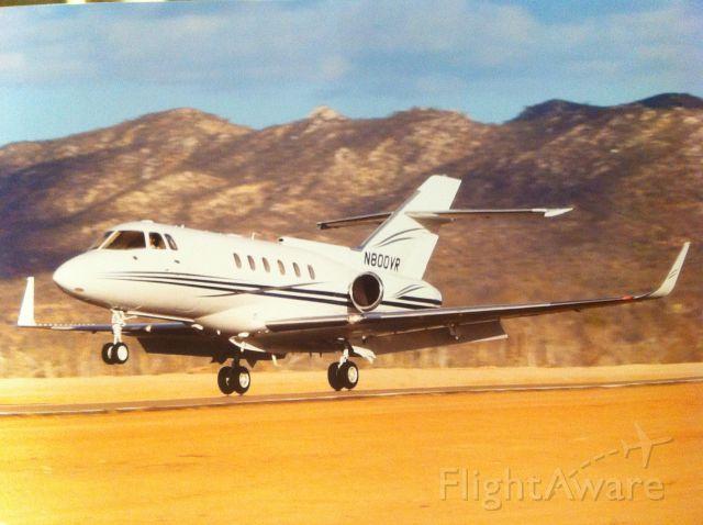 Hawker Siddeley HS-125-400 (N800VR) - Landing Cabo San Lucas, 2013