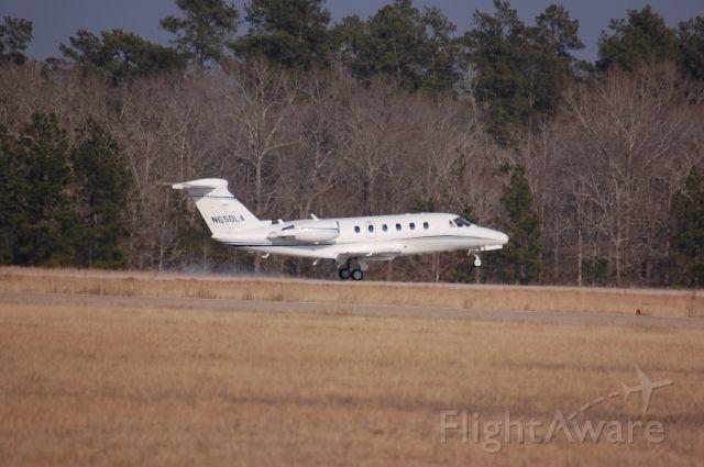 Cessna Citation III (N650LA) - Cessna 650 touching down at Lone Stars runway 14.