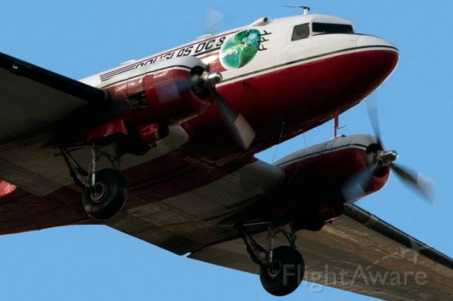 Douglas DC-3 (N728G) - 1/5/13: Troy Plastics 1942 Douglas DC-3C N728G (c/n 4359) on short final approach over Miami Lakes enroute to runway 9L at Opa-locka Executive Airport. They flew nonstop from Troy, Alabama, presumably bringing in fans for the BCS Championship game between Alabama and Notre Dame.
