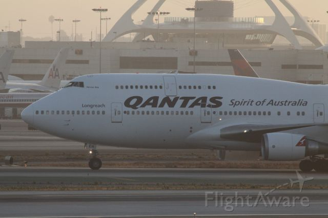 Boeing 747-400 (VH-OEH) - HOLD SHORT AT TAXYWAY AFTER ARRIVAL