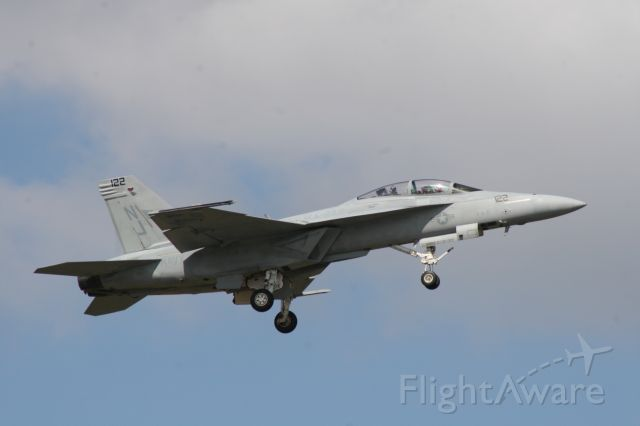 — — - F/A-18F Super Hornet making a low speed pass at the NAS Jacksonville Airshow.