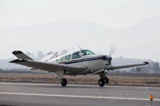 Beechcraft 35 Bonanza (N777TL) - Perfect takeoff at Hollister, CA (KCVH) on Dec. 31st, 2017