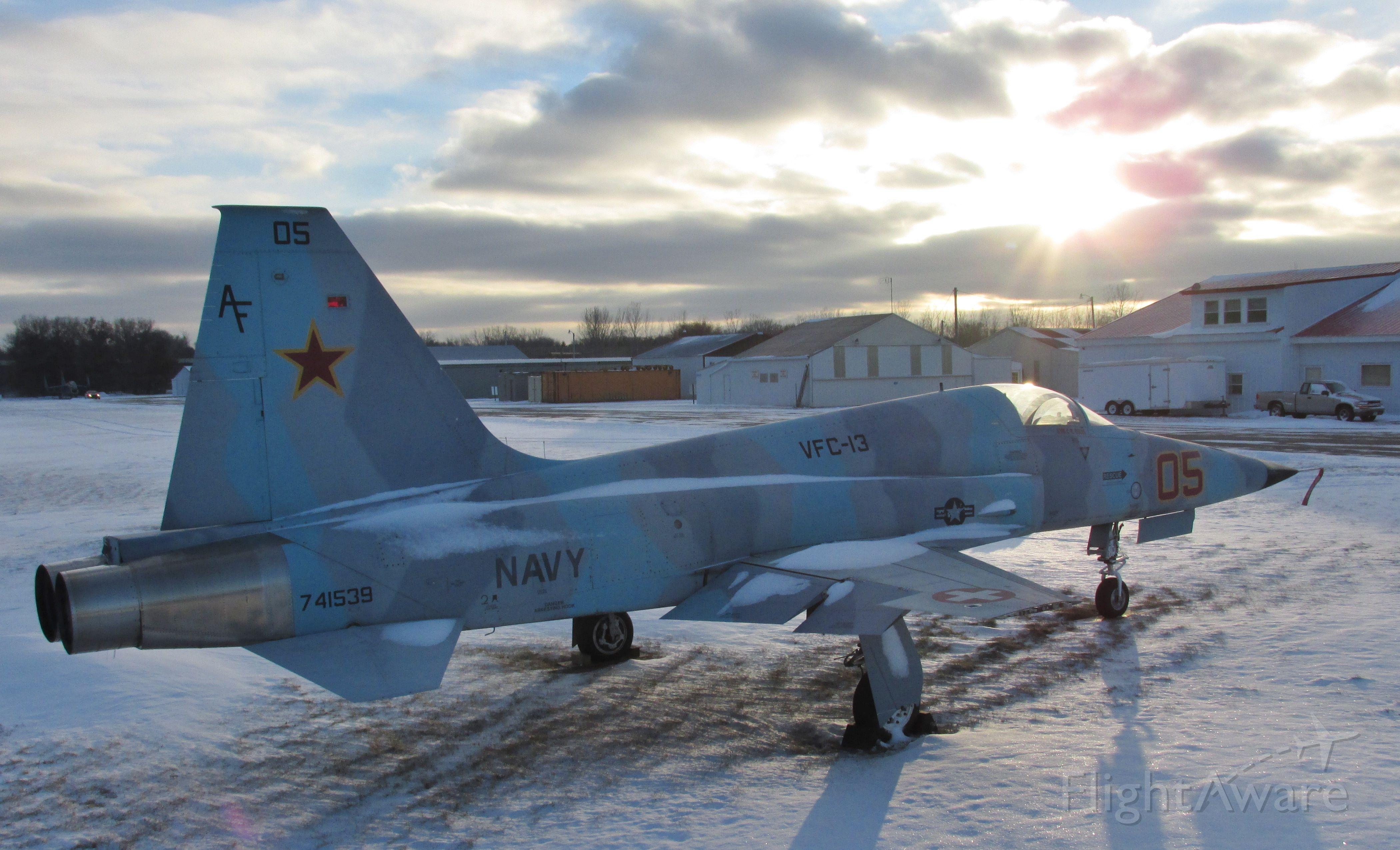 Northrop RF-5 Tigereye — - Northrop F-5 taken at Anoka County airport MN 12-2014