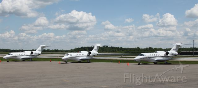 Cessna Citation X (N750TX) - 3 Textron Coporate jets @ CYMX near Textron-Bell Helicopter factory next to CYMX airport.