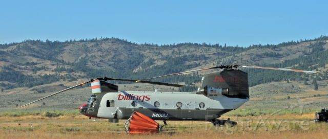 "ASAP Chinook (N401AJ) - At the Portola Airport near the ""Walker Fire"""