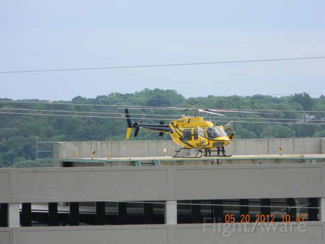 Bell 407 (N431P) - On the helipad at Mary Washington Hospital in Fredericksburg, VA