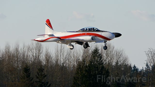 Lockheed T-33 Shooting Star (N109X) - BOE09X a Canadair T-33 (Ser#21298) making touch / go landings on Rwy 34L on 12.16.16.