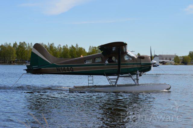 De Havilland Canada DHC-2 Mk1 Beaver (N144Q) - Taxiing at Lake Hood on 5/24/21.