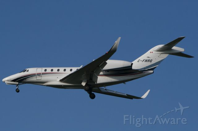 Cessna Citation X (C-FNRG) - Blue sky at Durham Tees Valley Airport.