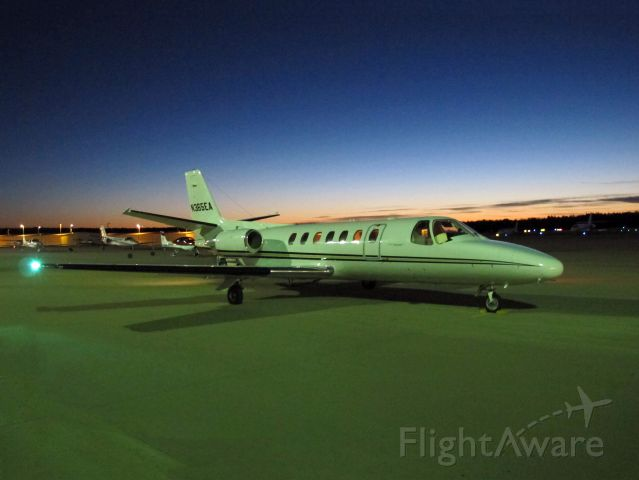 """Cessna Citation V (N365EA) - Early morning departure at Bridgeport CT. CFM (Corporate Flight Management) has 3 x King Air 100, 2 x Phenom 100 and 2 x Citation V available for charter in the New York metropolitan area KDXR KHPN KTEB KBDR  <a rel=""""nofollow"""" href=""""www.FLYCFM.COM"""">www.FLYCFM.COM</a>"""