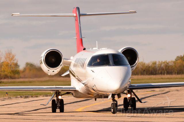 Learjet 45 (N820AT) - A Learjet 45XR arriving in Yorkton.