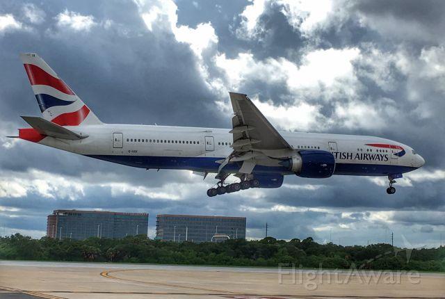 Boeing 777-200 (G-VIIX) - British Airways 2167 arriving in TPA