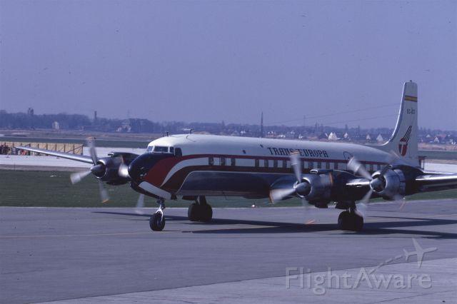 Douglas DC-7 (EC-BCI) - DC-7C in April 1969 at Düsseldorf (EDDL)