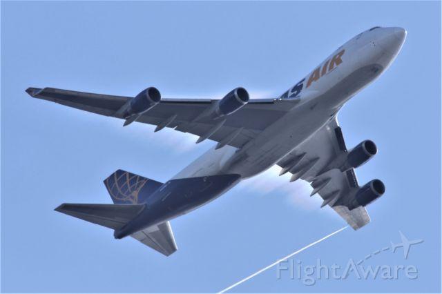 Boeing 747-400 (N499MC) - SEA-ICN 4-1-2020