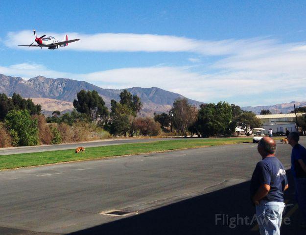 North American P-51 Mustang — - Santa Paula Airport October 2014