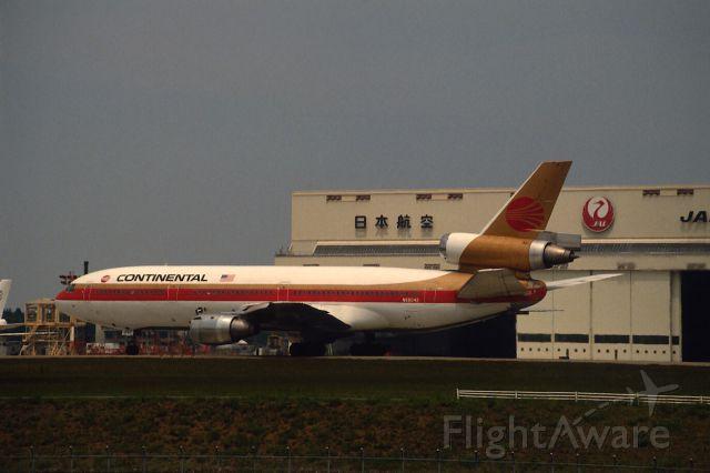 McDonnell Douglas DC-10 (N68042) - Departure at Narita Intl Airport Rwy34 on 1987/05/04