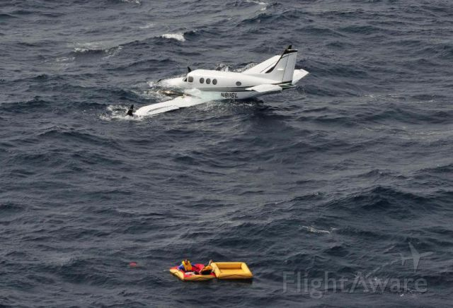 Beechcraft King Air 90 (N8116L) - N8116L encountered mechanical trouble and ditched near Aruba.