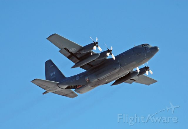 Lockheed C-130 Hercules (13-0335) - 1985 Lockheed CC-130H Hercules (130335) doing a low pass prior to dropping a SAR Tech on Feb 26, 2021
