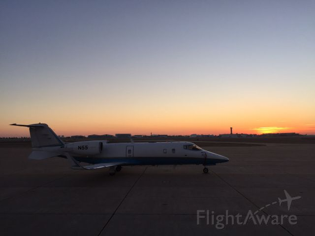 Learjet 60 (N55) - Flight Check 55 at home base