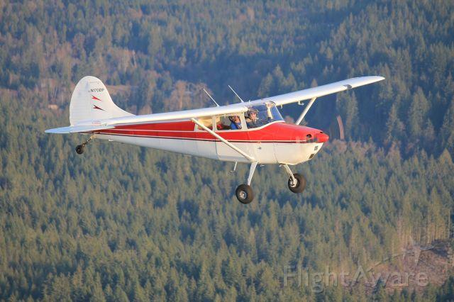 Cessna 170 (N170DP) - FALL FLYING TAKEN WITH TELEPHOTO LENS AT LONG RANGE