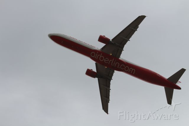 Airbus A321 (D-ALSB) - Just after take off near end of runway 4-10-2013
