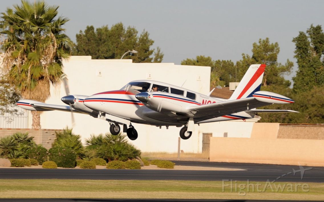 Piper PA-30 Twin Comanche (N8266Y) - Taking off from Stellar Airpark, AZ