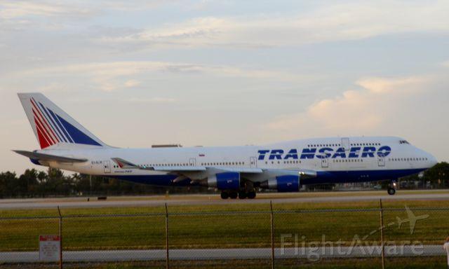 Boeing 747-400 (EI-XLM) - Takeoff roll !