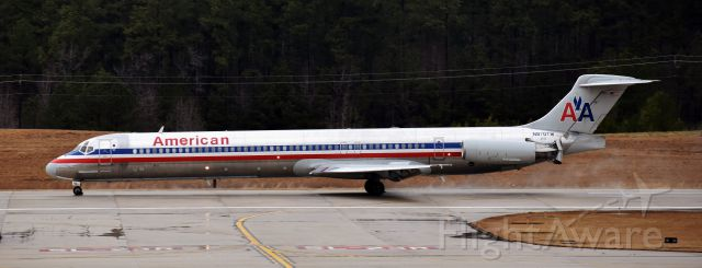 McDonnell Douglas MD-83 (N970TW) - Nothing like a wet Mad Dog! At the RDU observation deck, 2/7/18.