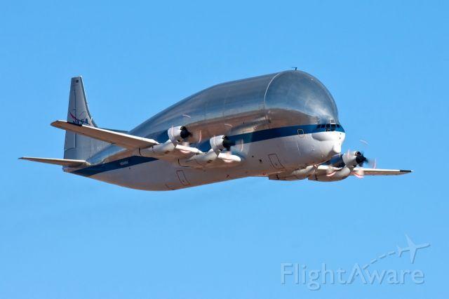 N941NA — - NASA Aero Spacelines 377-SGT Super Guppy Turbine N941NA leaving Davis-Monthan AFB, Arizona with a belly full of T-38 Talon II aircraft bound for Holloman AFB, NM.