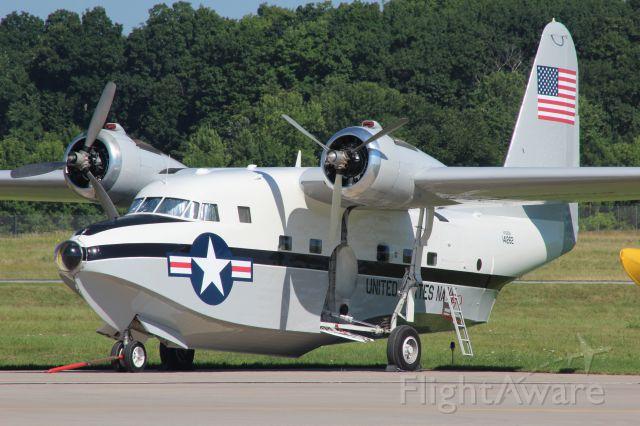 Grumman HU-16 Albatross (N7025N) - Albatross parked at Platinum Aviation Appleton