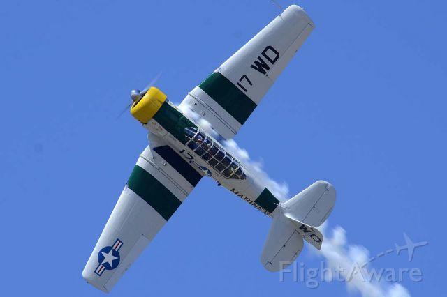 Grumman AA-5 Tiger (N1038A) - North American SNJ-5 Texan N1038A War Dog at Camarillo on August 7, 2013.