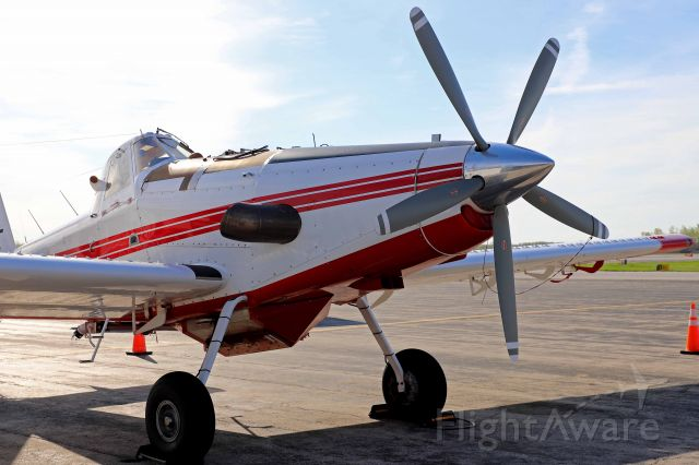 """AIR TRACTOR Fire Boss (N173TA) - Check out the engine on this Air Tractor """"Fire Boss"""" AT-802A. That prop and exhaust! I caught it on the ramp yesterday (2 May 2021)."""