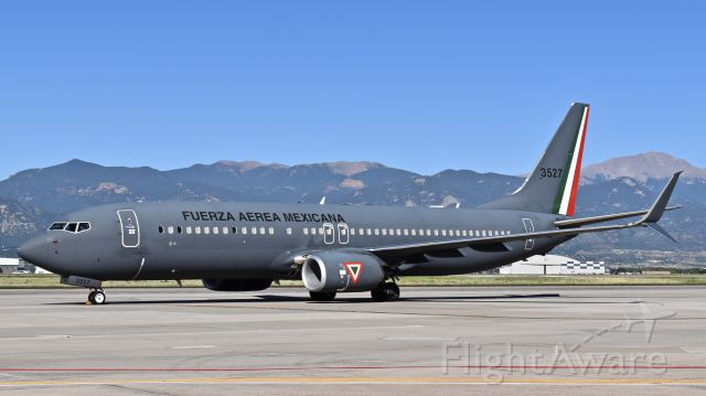 Boeing 737-800 (N3527) - Aircraft #3527, a Boeing 737-8ZY (WL) assigned to the Mexican Air Force