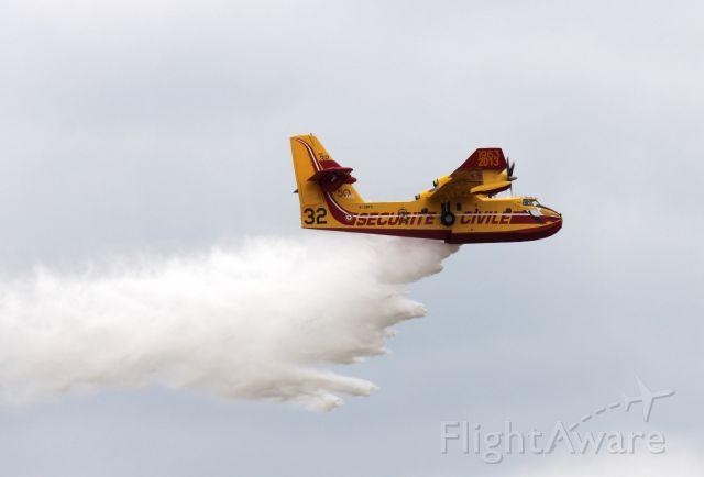 Canadair CL-41 Tutor (F-ZBFS) - Bomberdier (Canadair) CL-415 SuperScooper.<br />Paris Airshow 2015.<br />Le Bourget Airport, France<br />Photo: 20.06.2015