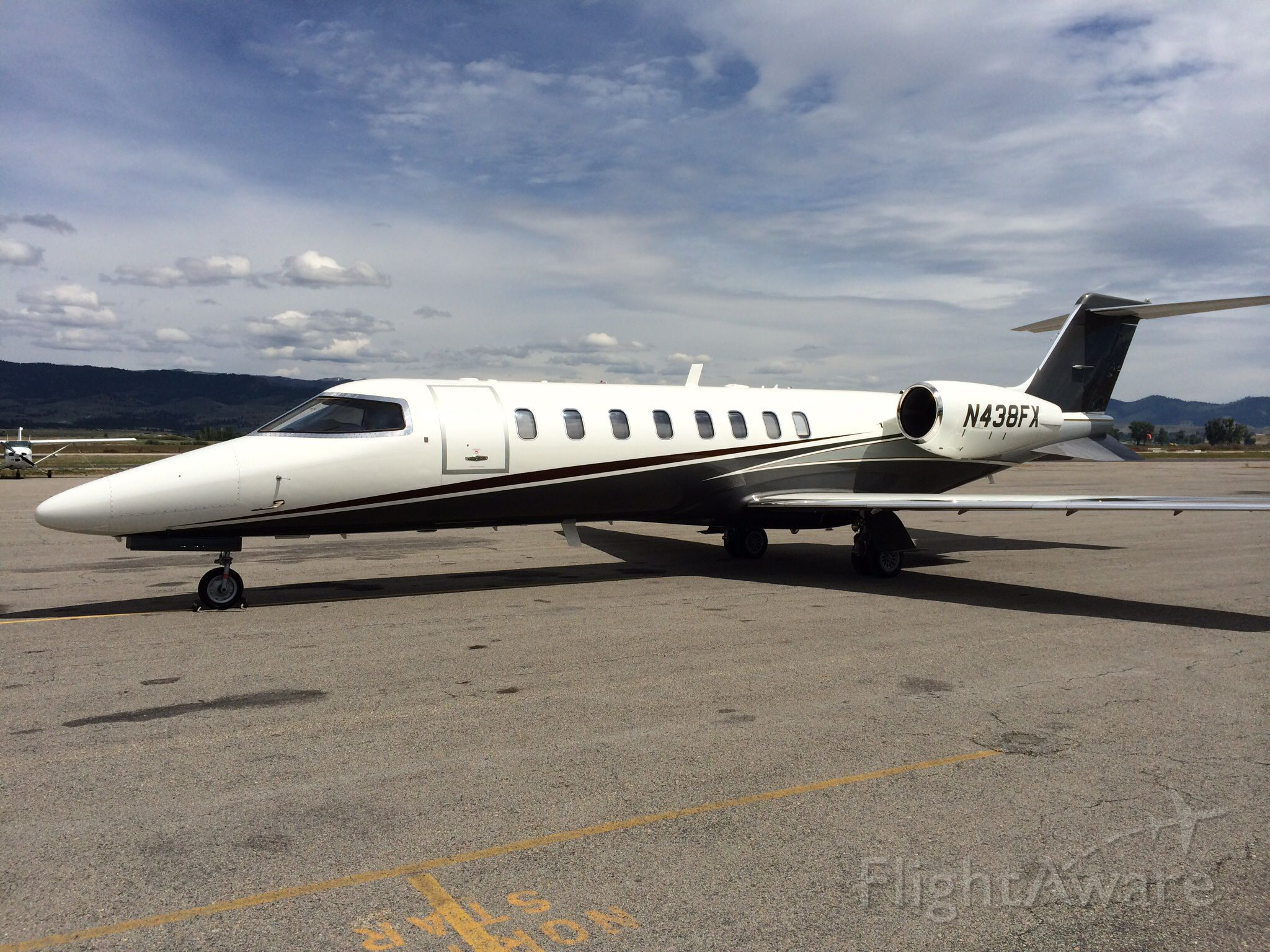 Learjet 45 (N438FX) - Hamilton, Montana.  On a sales tour introducing the new interior and exterior design features.