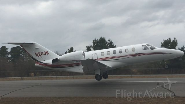 N20JK — - 2002 Cessna Citation CJ2 departing Mountain View on an overcast day