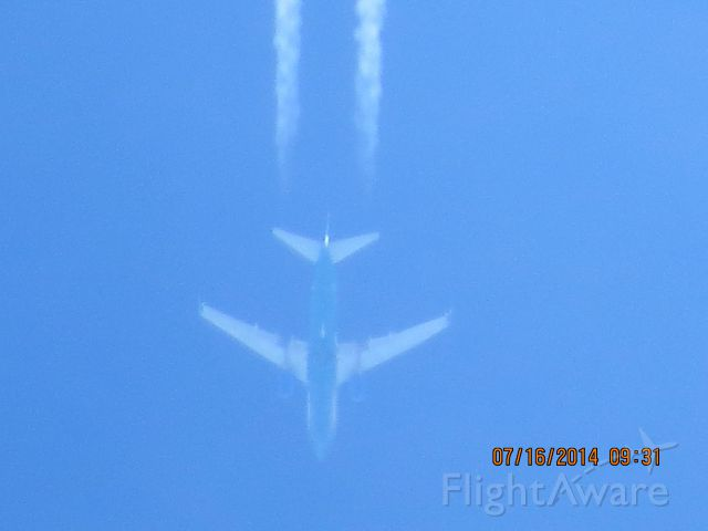 Boeing 737-700 (N261AT) - AirTran flight 407 from ATL to LAS over Baxter Springs KS (78KS) at 38k feet.
