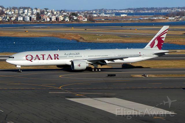 BOEING 777-300 (A7-BAN) - 'Qatari 743' arriving from Doha