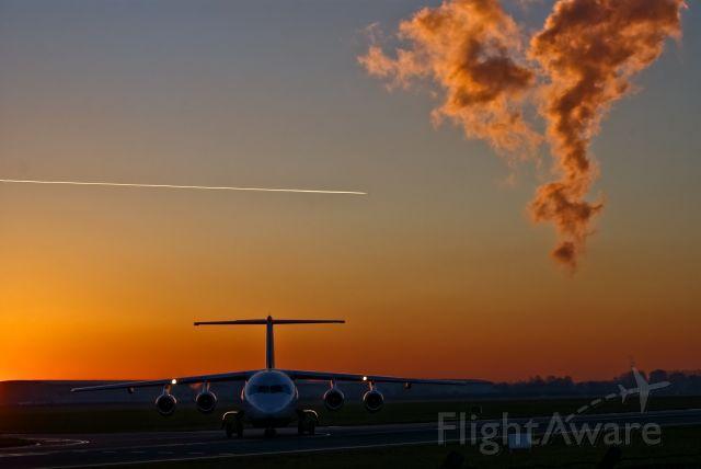 Avro Avroliner (RJ-85) (EI-RJN) - City Jet Avro RJ85 vacating runway 28 at Dublin International