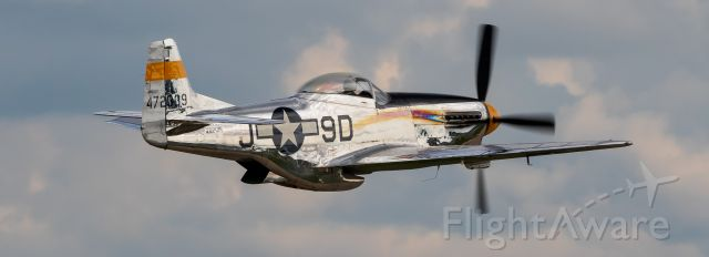 "North American P-51 Mustang (NL51JC) - North American P-51D ""The Brat III"" departs runway 18 @ EAA 2018"