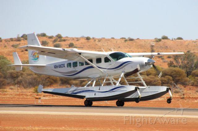 Cessna Caravan (VH-MOX) - VH-MOX landing on Runway 09 at Meekatharra Western Australia, Enroute Broome to Perth.