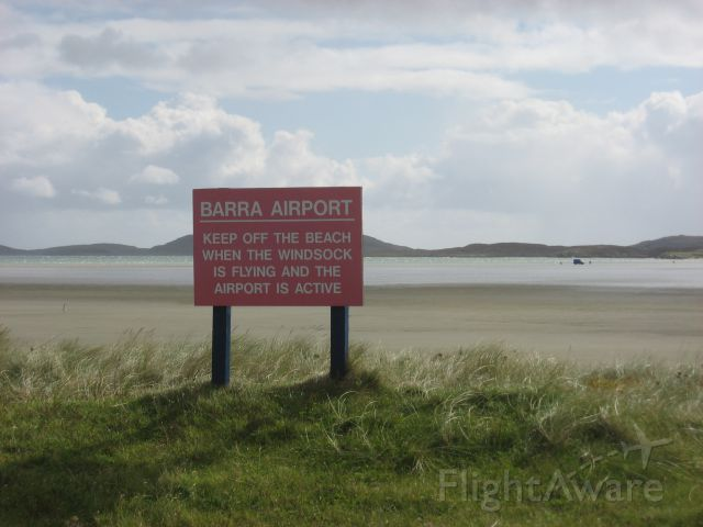 — — - Barra airport in Scotland is also the beach. Washed by the tide twice a day and served 4 times a day by a Twin Otter to Glasgow.